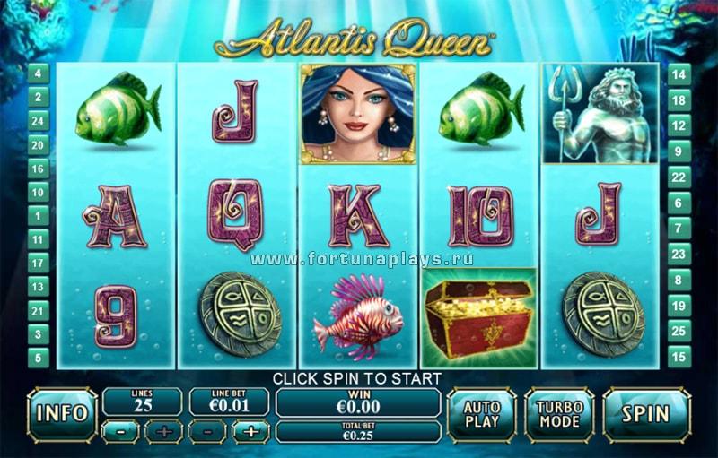 Atlantis Queen игровой автомат играть на деньги в Плей Фортуна казино