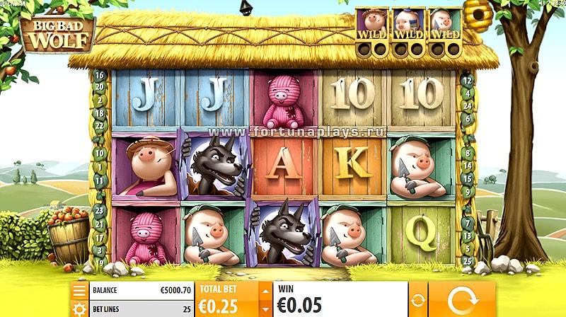 Big Bad Wolf играть на казино Плей Фортуна