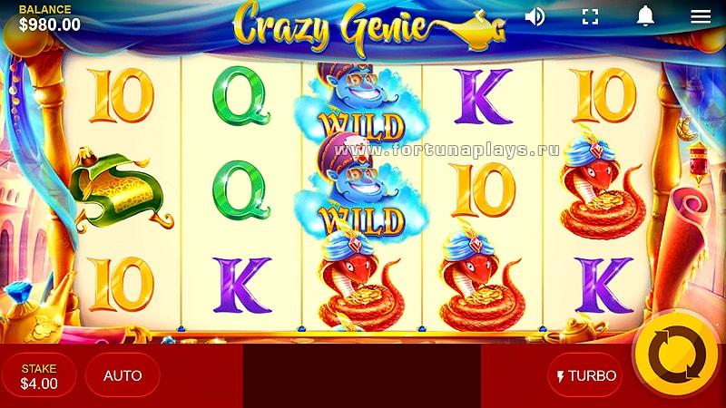 Crazy Genie игровой автомат без регистрации в казино Плей Фортуна