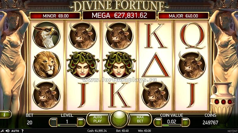 Divine Fortune играть бесплатно в казино Play Fortuna