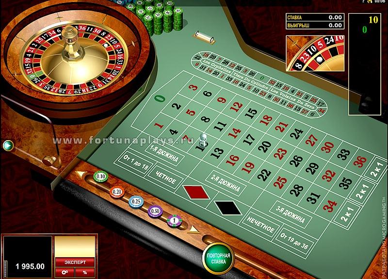 Gold European Roulette игра на сайте казино Play Fortuna
