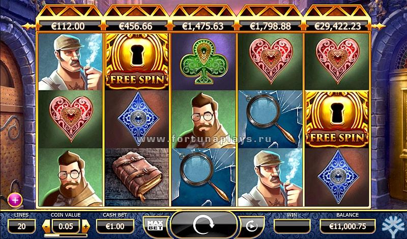 Holmes & The Stolen Stones игровой аппарат в казино Play Fortuna
