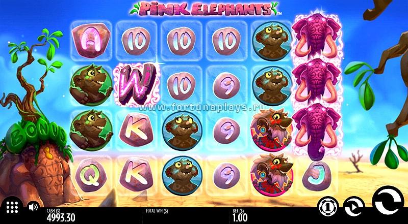 Pink Elephant бесплатный автомат в казино Плей Фортуна